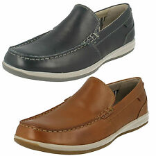 uomo CLARKS SLIP ON MOCASSINO IN PELLE SCARPE MOCASSINI CASUAL fallston PASSO