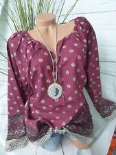 Sheego long blouse tunique chemise taille 46 - 48 BEAU à motif (830) NEUF