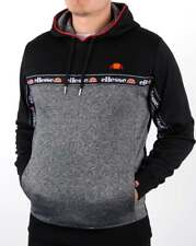 MEN'S ELLESSE BLACK & GREY OTTER OH HOODY TOP ALL SIZES XS - XXL NEW IN AW17