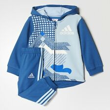 Adidas Infant French Terry Full Tracksuit Children Baby Hooded Jogger Set