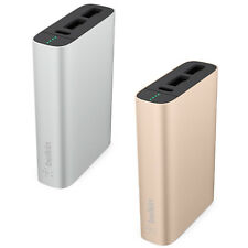 Genuine BELKIN 6600 mAh Portable Dual USB Power Bank Charger For Smartphones Tab