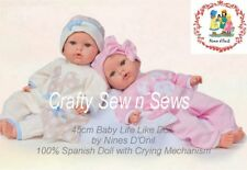 Spanish Baby Doll by Nines d'Onil Reborn/Life Like Doll with Crying Mechanism