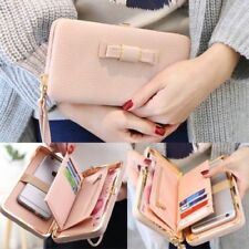 Bow-knot Wallet Women Long Purse Phone Card Holder Clutch Large Capacity Pocket