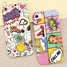 Phone Cases Hard PC Mobile Case Graffiti Letter Back Cover iPhone 7 6 6S Shell