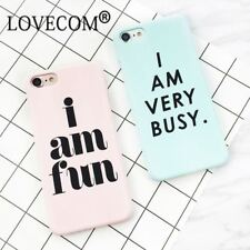 iPhone Cover Hard PC Letter Print Back Case For iPhone 7 6s 5s Mobile Skin Shell