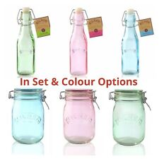Kilner Bottles and Jars Swing Top Glass Preserve, Juice Storage & Gift