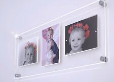 """Cheshire Acrylic magnetic floating picture photo frame 3x 5 x 7 / 7x5"""" all color"""