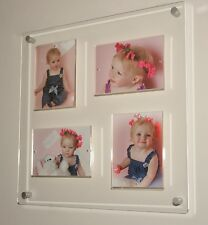 """All colours Acrylic magnetic floating multi 5 x 7 """"/ 7 x5"""" picture photo frame"""