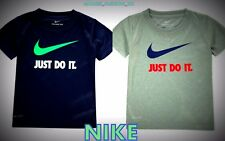 New Nike Genuine Infant Boys Swoosh Just Do IT Swoosh -T Shirt Top Size Age 3-7