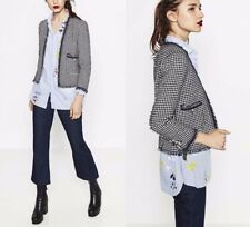 ZARA BEAUTIFUL SMART ELEGANT TWEED FANTASY BLAZER JACKET COAT XL NEW