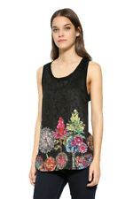 Desigual Sleeveless Lace Chipi Blouse Floral Bottom  XS-XXL UK 8-18 RRP �54