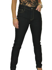 "High Waisted Skinny Stretch Denim Jeans 31"" Leg Black NEW 12-22"