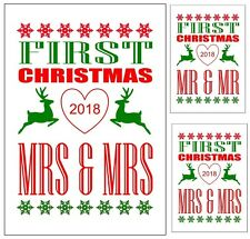 PERSONALISED 1ST FIRST CHRISTMAS AS MR & MRS CARD MR & MR, MRS & MRS XMAS 2017