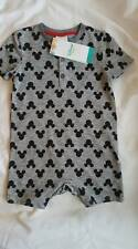 DISNEY BABY BOYS MICKEY MOUSE BLACK AND WHITE ROMPER..BNWT..ALL AGES..