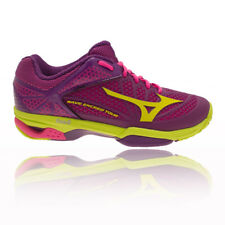 Mizuno Wave Exceed Tour 2 Womens Yellow Purple Tennis Sports Shoes Trainers