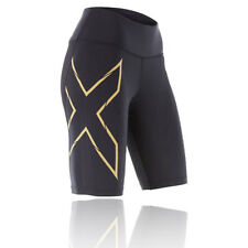 2XU Elite MCS G2 Womens Black Gold Compression Sports Shorts Pants Bottoms