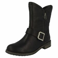 Ladies Firetrap Diva Boot Biker Style Ankle Boots