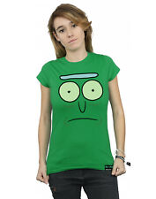 Absolute Cult mujer Rick And Morty Pickle Rick Face Camiseta