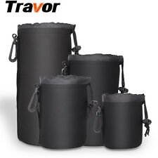 TRAVOR DSLR Camera Drawstring Lens Pouch Bag Cover for Canon, Nikon, Sony Lens