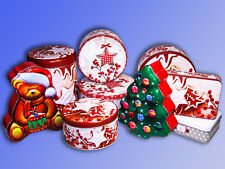 Christmas Cookie Tin, Tin Can, Cookies Motif Box, Baking Containers, Candy Box