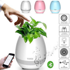 Smart Music Touch Flower Pot LED Light Green Plant USB Stereo Bluetooth Speaker