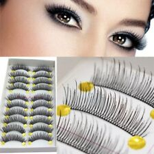 10 paires épais Crossing long apparence Faux cils maquillage Faux-cils naturel
