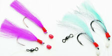 Fladen Feathers Sea Compartment, Pink or Blue Large Cod Hook 8/0 Cod Leader