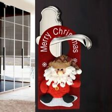 Xmas Tree Santa Claus Snowman Door Hanging Ornament Christmas Home Party Decor K