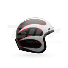 CASCO BELL CUSTOM 500 CARBON ACE CAFE TONUP NEGRO/BLANCO 55-56/TALLA S GAMA BELL