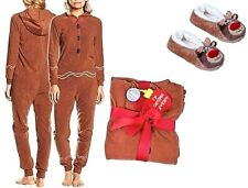 WOMENS LADIES CHRISTMAS NOVELTY SOFT FLEECE ALL IN ONE PYJAMAS PJS BODY SUIT ONE