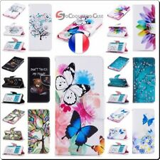 Etui coque housse Cuir PU Leather Wallet case cover LG G5 G6 K10 V30