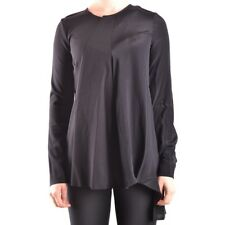 29670 DONDUP T-SHIRT MANICA LUNGA DONNA NERO WOMEN'S BLACK LONG SLEEVES T-SHIRT