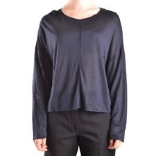 29660 DONDUP T-SHIRT MANICA LUNGA DONNA NERO WOMEN'S BLACK LONG SLEEVES T-SHIRT