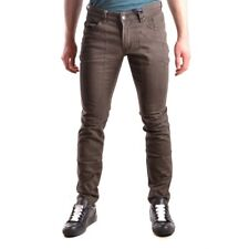 z333 JECKERSON PANTALONI JEANS MARRONE COTONE UOMO MEN'S COTTON BROWN PANTS