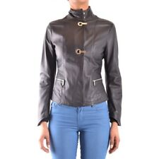 z815 ARMANI JEANS GIUBBINO NERO PELLE DONNA WOMEN'S LEATHER BLACK JACKET