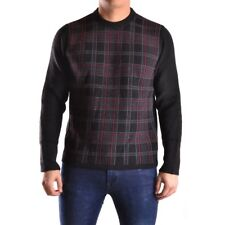 z1123 MELTIN'POT MAGLIONE NERO LANA UOMO MEN'S WOOL BLACK SWEATER