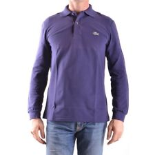 z1341 LACOSTE POLO VIOLA COTONE UOMO MEN'S COTTON VIOLET T-SHIRT