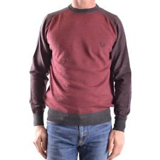 z1441 FRED PERRY MAGLIONE BORDEAUX LANA UOMO MEN'S WOOL SWEATER