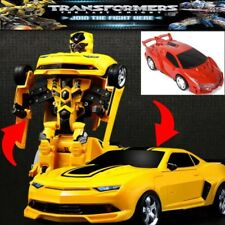 Transformers Action Figure auto Bumblebee 2 in 1 giocattolo Rescue robot luci &