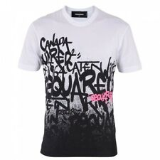 bn762 DSQUARED T-SHIRT BIANCO UOMO MEN'S WHITE T-SHIRT