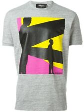 bn758 DSQUARED T-SHIRT GRIGIO UOMO MEN'S GREY T-SHIRT