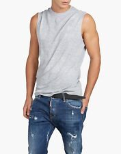 bn757 DSQUARED T-SHIRT GRIGIO UOMO MEN'S GREY T-SHIRT