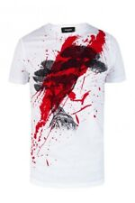 bn746 DSQUARED T-SHIRT BIANCO UOMO MEN'S WHITE T-SHIRT