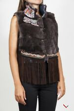 vr199 DASSIOS GILET MARRONE DONNA WOMEN'S BROWN VEST