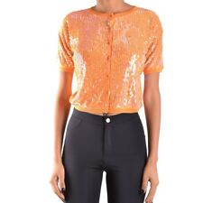 bc27216 TWIN-SET SIMONA BARBIERI CARDIGAN ARANCIONE DONNA WOMEN'S ORANGE CARDIGA