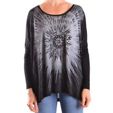 bc25391 RICHMOND T-SHIRT MANICA LUNGA NERO DONNA WOMEN'S BLACK LONG SLEEVES T-SH