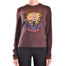 bc24762 FRANKIE MORELLO T-SHIRT MANICA LUNGA MARRONE DONNA WOMEN'S BROWN LONG SL