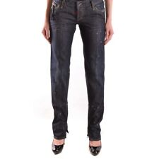bc24373 DSQUARED JEANS BLU SCURO DONNA WOMEN'S DARK BLUE JEANS