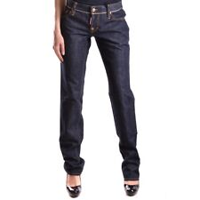 bc24371 DSQUARED JEANS BLU SCURO DONNA WOMEN'S DARK BLUE JEANS