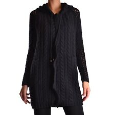 bc19915 TWIN-SET SIMONA BARBIERI MAGLIA CARDIGAN NERO DONNA WOMEN'S BLACK CARDIG